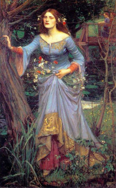 Ofelia w interpretacji Johna Williama Waterhouse'a